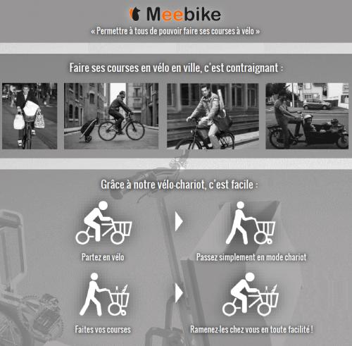 Vélo chariot Meebike